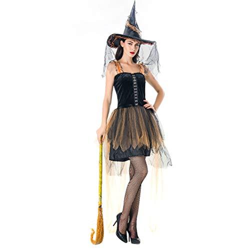 r Erwachsene Königin Hexe Cosplay Kostüm Anzug für Frauen Schickes Kleid (Color : 10026, Size : Einheitsgröße) ()