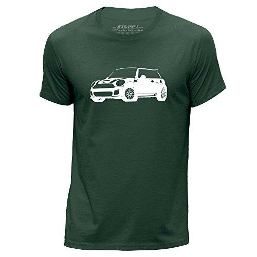 stuff4-hombres-grande-l-verde-oscuro-cuello-redondo-de-la-camiseta-plantilla-coche-arte-cooper-s