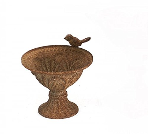 Amphora métal shell / shell amphore Coupe Antique BROWN GREEN Sanded 15cm x 15cm