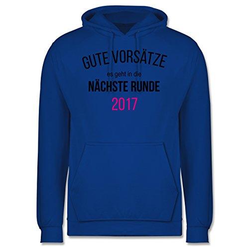 Weihnachten & Silvester - Lustiges Neujahr Motiv - Männer Premium Kapuzenpullover / Hoodie Royalblau