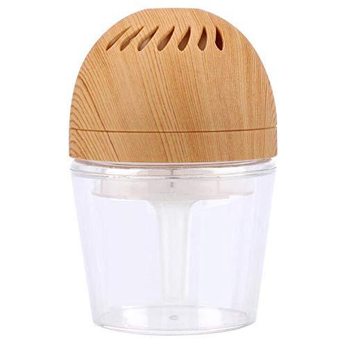 TINGTING Machine Silencieuse D'aromatherapy De Lavage De Grain en Bois De Purificateur d'air De Voiture 5V 12-24W 50 (HZ) 50 (DB) 8 × 8 × 12.2cm 250ML,Woodgrainlightyellow