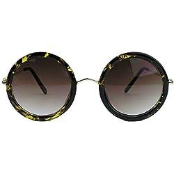 Sixties Fashion Nerd Brille / Sonnenbrille groß rund fetter Rahmen LP41 (Sonnenbrille Demi Tortoise)