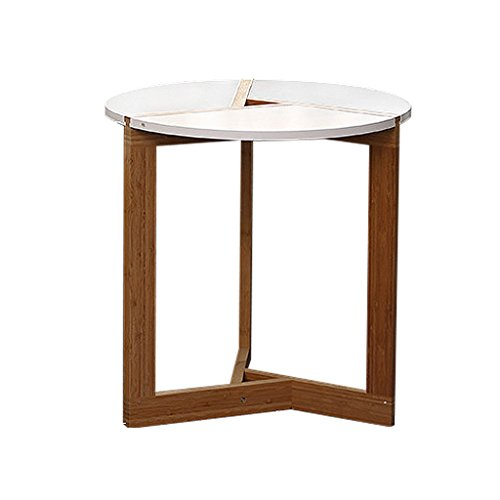 Tables de pique-nique Table basse ronde blanche en bois rondins petite table ronde table (Color : Blanc, Size : 40 * 40 * 40cm)