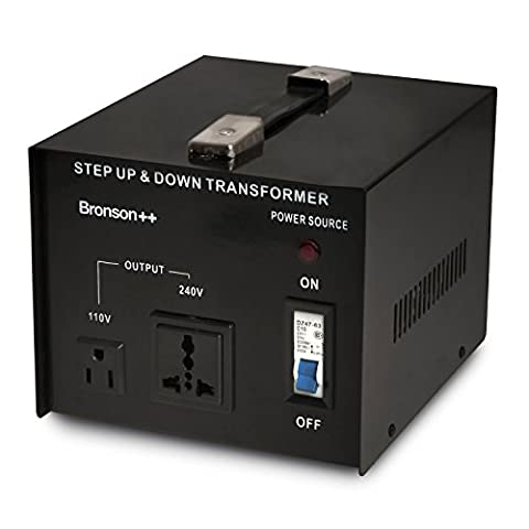 Bronson++ VT 2000 - 110 Volt Transformer - 2000 Watt USA Voltage Converter - Step Up / Down - UK Plug - 110V 2000W Bronson