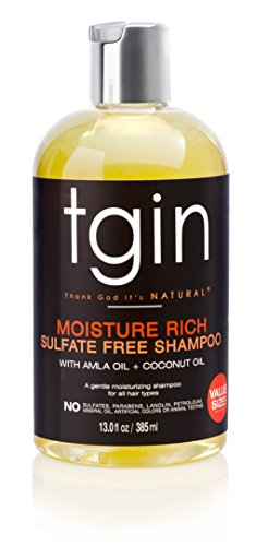 tgin Moisture Rich Sulfate Free Shampoo for Natural Hair, 14.5oz by tgin (Thank God It's Natural) (Shampoo Free Sulfate Moisture)