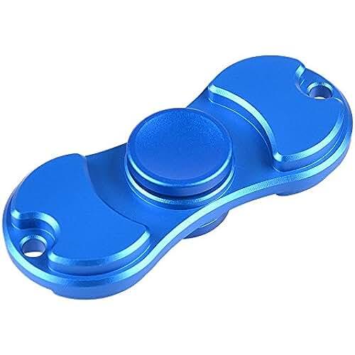 fidget spinner el nuevo juguete de moda MyArmor Fidget Spinner EDC de aluminio rodamientos estrés juguetes aliviar la ansiedad, estrés y aburrimiento, azul