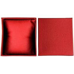 Tonsee Dauerhaften Geschenk Box vorliegend für Armband Armreif Schmuck Uhren Box,rot