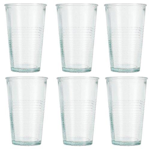 Jamie Oliver Highball Trinkglas 6?x 250?ml/266?ml Echter recycelter Vintage Stil Gr?n Brise Hallo Ball Gl?ser-Set f?r Saft, Wasser trinken, Cordial & mehr Sp?lmaschinenfest Gl?ser Made in Spanien (9 Oz Hi-ball Glas)