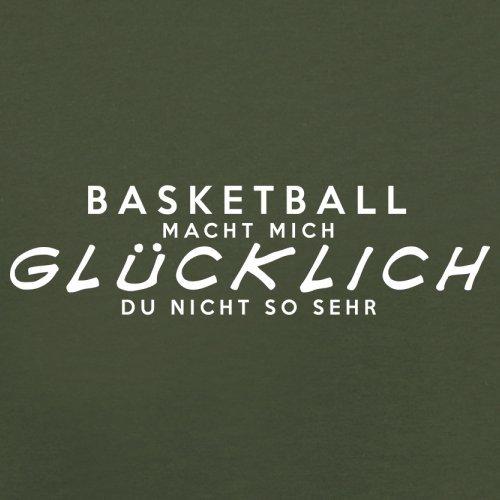 Basketball macht mich glücklich - Herren T-Shirt - 13 Farben Olivgrün