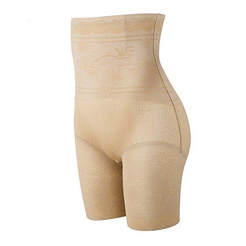 KSKshape Damen figurenformend Miederslip Miederhose mit Bauch-Weg-Effekt Mieder Butt Lifter Shaper Beige