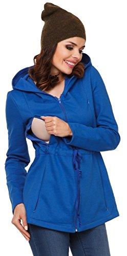 Zeta Ville - Maternité pull molletonné allaitement panneau amovible - femme 039c Bleu Royal