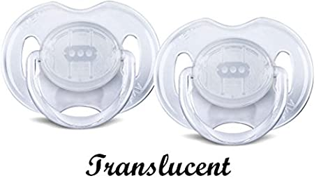 Baby Soother Dummy Pacifier Nipple Philips Avent Night Time 0-6m / 6-18m 2 Pack (0-6m, # 7)