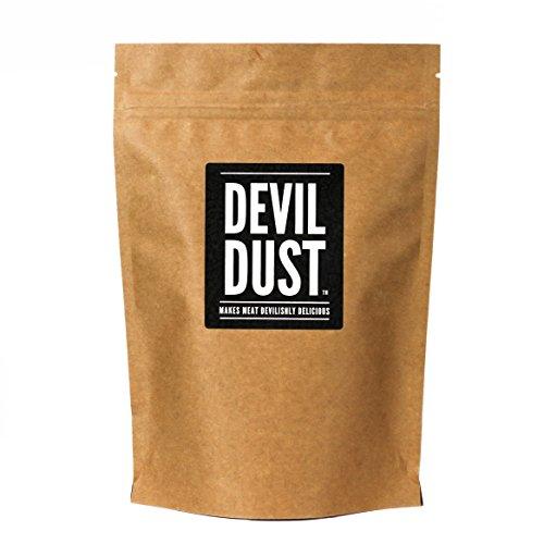 """Devil Dust - Condimento Extra Piccante e Barbecue - \""""Rende la carne deliziosamente piccante\"""" - Confezione grande (225 gr) - Ottimo regalo per gli amanti delle salse piccanti"""