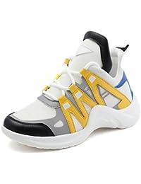 GTVERNH Verano Transpirable Zapatos Tenis Deportes Zapatos De Mujer Treinta Y Siete Amarillo