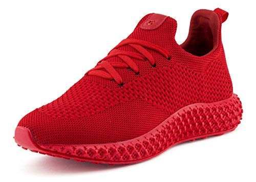 Fusskleidung Herren Sportschuhe Strick Laufschuhe Freizeitschuhe Sneaker Turnschuhe Gym Runners Rot EU 44 Gucci White Sneakers