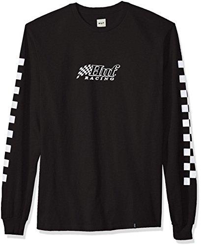 HUF Herren Racing L/s Tee T-Shirt, schwarz, XX-Large