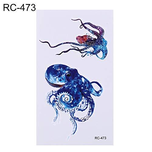 i Meerestiere Wasserdicht Temporäre Tattoos Frauen Körperkunst Arm Tattoo Aufkleber Kinder Hand Tatoo 6X10,5 cm,   473 ()