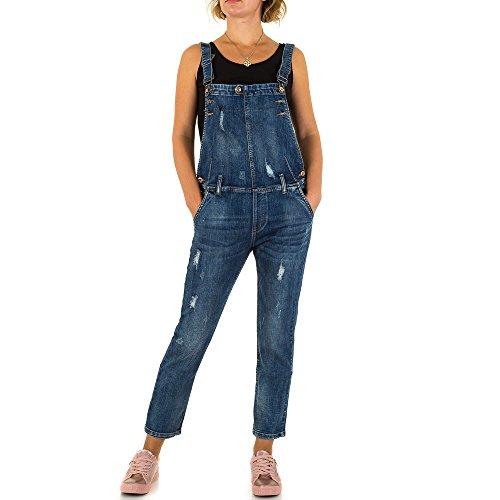Damen Jeans Hose Jeanshose Destroyed Latz Blau XS