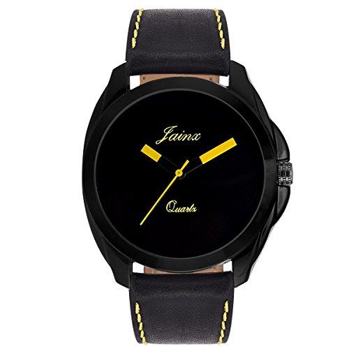 Jainx Black Dial Analog Watch For Men & Boys - JM236