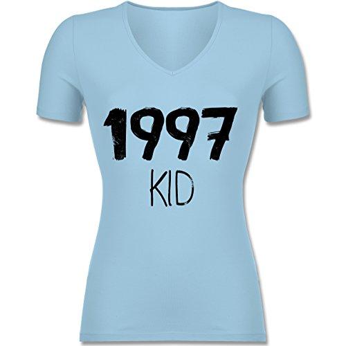 Geburtstag - 1997 KID - Tailliertes T-Shirt mit V-Ausschnitt für Frauen Hellblau