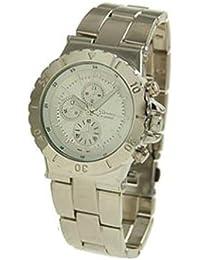 Geneva Reloj de rotación Boyfriend para mujer Plata