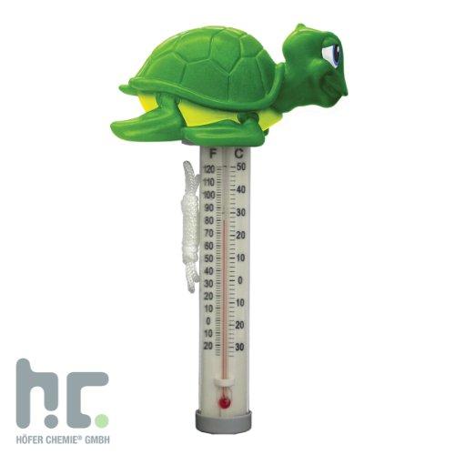 Pool Thermometer Schildkröte - Schwimmthermometer mit Schildkrötenmotiv - VERSANDKOSTENFREI
