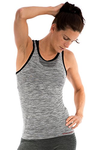 Sundried Women's Sports Vest Gym Yoga Top Lightweight Seamless Breathable Made in Italy