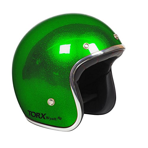 TORX Casco Moto Wyatt, Glitter Green, taglia S