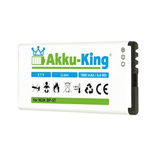 Akku-King Akku ersetzt Nokia BP-5T, BP-5H - 1800mAh - für Lumia 820, 820.2, 825, 701 - Li-Ion - 1800mah Li-ion Notebook-akku