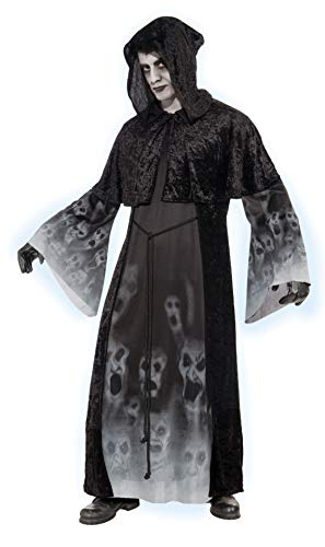 Forum Novelties Women's Ghostly Spirits Forgotten Souls Costume, Black, - Kinder Ghostly Spirit Kostüm