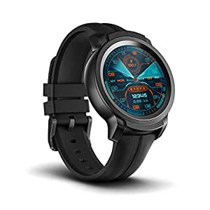 TicWatch E2, Wear OS by Google Fitness smartwatch, 5 ATM Waterproof and Swim-Ready, Compatible with iPhone and Android- Shadow