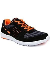 Lotto Men's Black/Orange Rubber Running Shoe - 9
