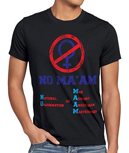 M Herren T-Shirt Vatertag Gruppen-Kostüm Fasching Karneval Männer-Umzug, Größe:M, Farbe:Schwarz ()