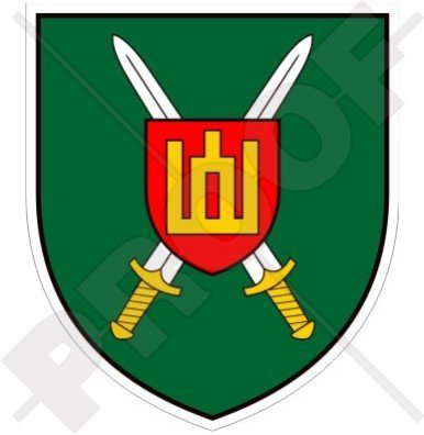 LITAUEN Litauische Landstreitkräfte Befehl Emblem, Armee Abzeichen 90mm Auto & Motorrad Aufkleber, Vinyl Sticker (Armee Abzeichen Auto)