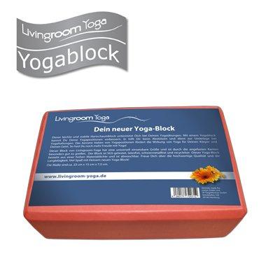 Yoga-Block / Yoga Klotz (zwei Stück) von Livingroom Yoga - leicht und stabil, schadstoffgeprüft, 23x15x7,5cm