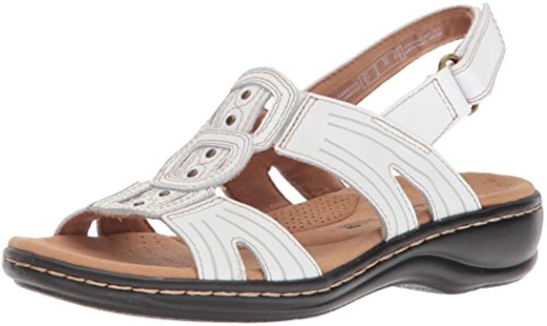 Clarks Wouomo Leisa Leisa Leisa Vine Platform, bianca Leather, 12 Medium US | Acquista  0ca8c9