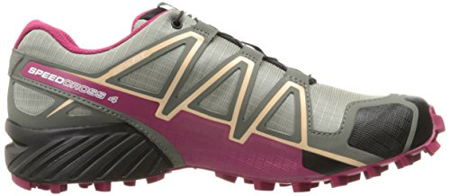 Salomon Speedcross 4 Cs W, Scarpe da Trail Running Donna Beige (Shadow/Sangria/Peach Nectar)