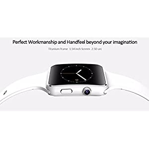 WellTech VIVO X21 (COMPATIBLE) Bluetooth Certified Smart Watch All 2G, 3G,4G-white Phone, X6 Wrist Watch Phone with Camera & SIM Card Support Hot Fashion New Arrival Best Selling Premium Quality Lowest Price with Apps like Facebook, Whatsapp, Read Message or News, Sports, Health, Pedometer, Sedentary Remind & Sleep Monitoring, Better Display, Loud Speaker, Microphone, Touch Screen, Multi-Language, For all Android iOS Mobile Tablet PC iPhone etc