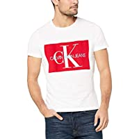 Calvin Klein Jeans J30J307843 Men S/S T Shirts Bright White/Racing Red M
