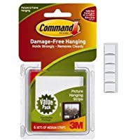 Command 17204-12ES Medium Picture Hanging Strips Value Pack, White with Scotch mounting Putty