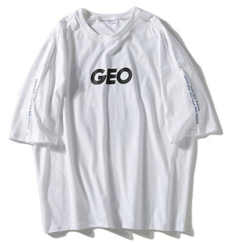 Pizoff Unisex Klassisches Strasse Style Oversized Übergrößes T-Shirt mit tifer...