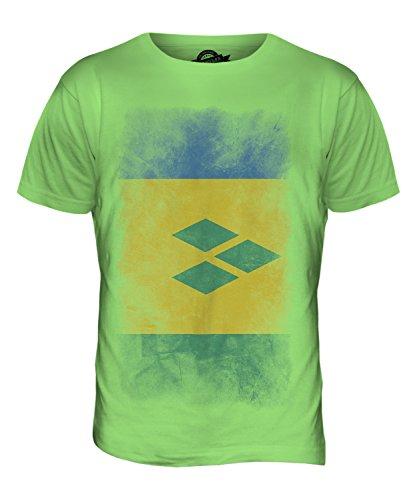 CandyMix St. Vincent Und Die Grenadinen Verblichen Flagge Herren T Shirt Limettengrün