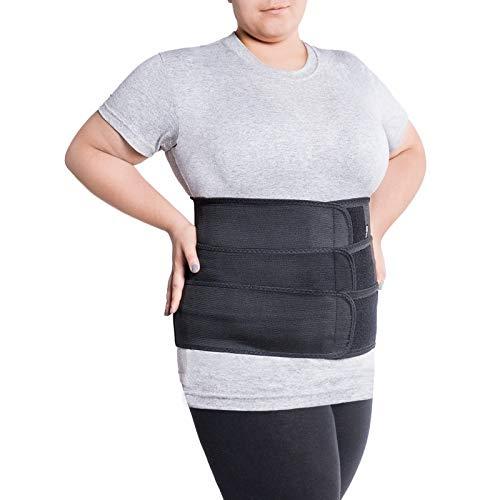 Lendengürtel mit starrer Fixierung, 6 Rippen/Höhe 31 cm Für Menschen mit großem Umfang an der Taille X-Large Schwarz - Orthopädische Gürtel