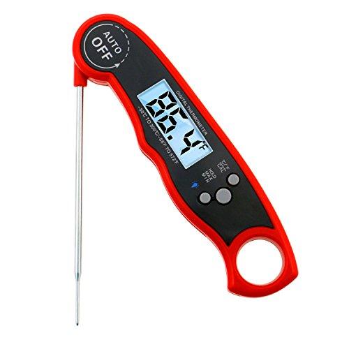 Buluri Fleisch Thermometer Schnelle Genauigkeit Lesen Zucker Thermometer Digital Elektronische Küche Thermometer für BBQ, Backen und Grill Kochen