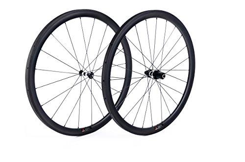 Youcan Bike 38 mm Carbon Laufradsatz für Road Bike 700 C tubular DT Swiss Naben Sapim Speichen - 23mm …