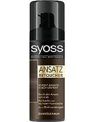Syoss Ansatz Retoucher Kaschierspray, Dunkelbraun Stufe 1, 3er Pack (3 x 120 ml)