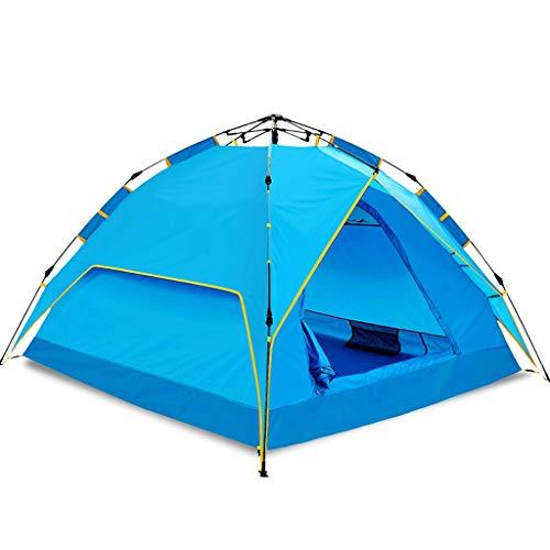 OLLY Marke Zelt Camping Automatische Pop Up 3-4 Personen Familie Zelt Doppelschicht Regendicht Leichte Kuppelzelt Ouedoor Paar Zelt