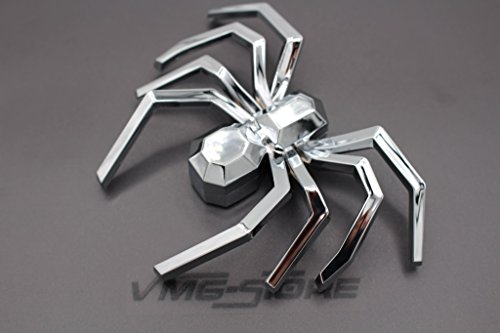 3D Emblem Spinne Chrom Schaumstoff Kleberückseite von boost-key.com Halloween Deko Kostüm (Keine Höhen Kostüm)
