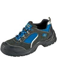 """S1 """"Göhren"""" - Zapato de Seguridad con Aspecto de Deportiva de Piel de Gamuza con Tapa de Acero con Suela Antideslizante PUR - negro, 40"""