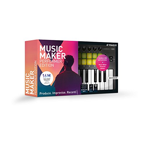 MAGIX Music Maker - 2019 Performer Edition - Music Maker Premium Edition + USB-Pad-Controller